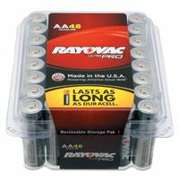 Rayovac ALAA-48PPJ Alkaline Reclosable Batteries, 1.5 V, AA, 48 per pack (1 Pack)