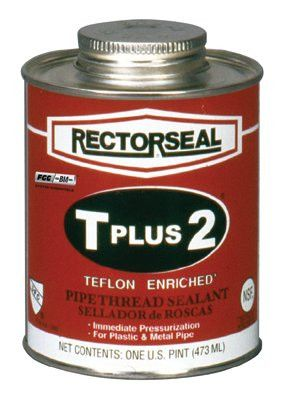 Rectorseal 23431 T Plus 2 Pipe Thread Sealants, 1 Pint Can, White