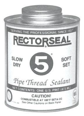 Rectorseal 25431 No. 5 Pipe Thread Sealants, 1 Pint Can, Yellow