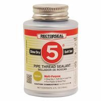 Rectorseal 25631 No. 5 Pipe Thread Sealants, 1/4 Pint Can, Yellow