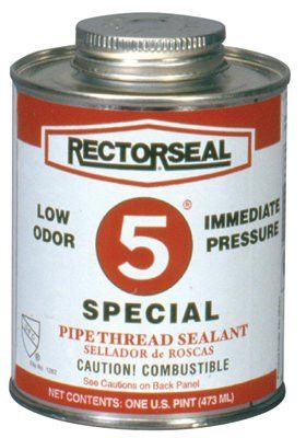 Rectorseal 26431 No. 5 Special Pipe Thread Sealants, 1 Pint Can, Yellow