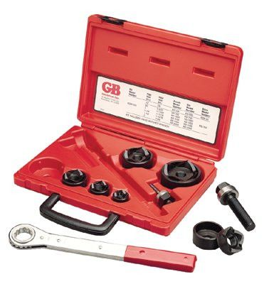 "Gardner Bender KOW520 Slug-Out Set with Ratchet Wrench, 1/2"" to 2"" Pipe Size (1 Set)"