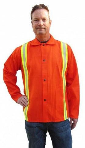 "Tillman 6230DRQ 30"" Hi-Vis Orange Jacket with Silver/Yellow Reflective Tape (1 Jacket)"