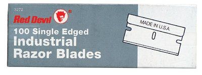 Red Devil 3272 SINGLE EDGE RAZOR BLADES|Single Edge Razor Blades (Box of 100 EA) 1 BOX