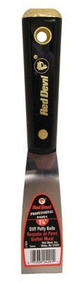 Red Devil 4201 4200 Professional Series Putty Knives, 1 1/4 in Wide, Stiff Blade (1 EA)