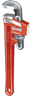 Ridgid 31395 Cast Iron Pipe Wrenches, Alloy Steel Jaw, 10 in (1 EA)