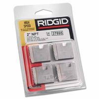 "Ridgid 37895 2"" Pipe Dies for OO-R, 111-R, 12-R, O-R, 11-R Ratchet Threaders or 30A, 31A 3-Way Pipe Threaders 1 SET"