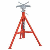 "ridgid-56662-v-head-pipe-stand,-high,-28""---52""-high,-12""-pipe-cap.,-2,500-max-weight,-vj-99"