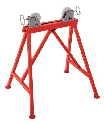 Ridgid 64642 Pipe Stands, Adjustable Roller Stand w/Steel Wheels 1 EA