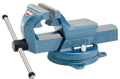 Ridgid 66997 Swivel Vise, 6 in Jaw, 4.75 in Throat, Swivel Base 1 EA