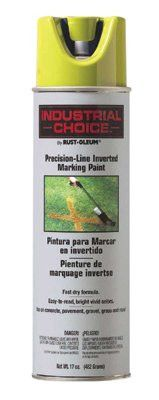 Rust-Oleum 1601838 M1600/M1800 Precision-Line Inverted Marking Paint,17oz, Clear