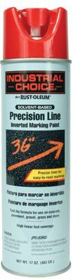 Rust-Oleum 203029 M1600/M1800 Precision-Line Inverted Marking Paint,17oz, Safety Red