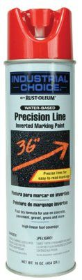 Rust-Oleum 203038 M1600/M1800 Precision-Line Inverted Marking Paint,17oz, Safety Red, Water-Based