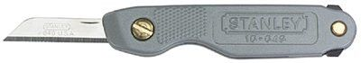Stanley 10-049 Pocket Knives, 6.9 in, Folding Steel Blade, Powder-coated epoxy, Silver 1 EA