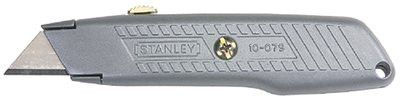 "Stanley 10-079 Interlock Retractable Utility Knives, 9"", Retractable Steel Blade, Metal, Silver 1 EA"