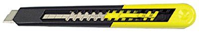 Stanley 10-150 Quick Point Knives, 7 in, Snap-Off Steel Blade, Plastic, Black|YELLOW 1 EA