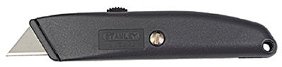Stanley 10-175 Homeowner's Retractable Utility Knives, 8.2 in, Retractable Steel Blade, Metal 1 EA