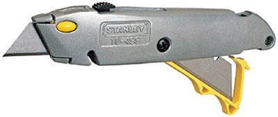 Stanley 10-499 Quick Change Retractable Utility Knives, 8 1/2 in, Steel Blade, Metal, Gray 1 EA