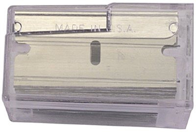 Stanley 11-515 Single Edge Razor Blades, 1 1/2 in, High Carbon Steel, 100 per box 1 PAK