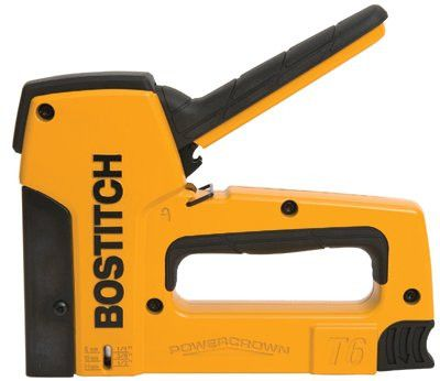 "Bostitch T6-8 Heavy-Duty Powercrown Tacker, 1/4"" - 9/16"" Staple Height, 84 Cartridge Cap. (1 EA)"