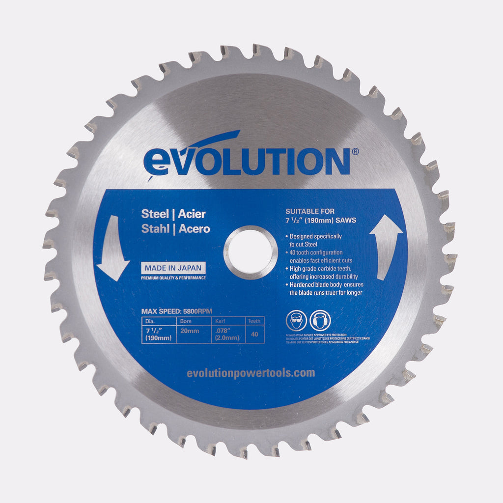 "Evolution 7-1/2BLADEST 7 1/2"" Saw Blade"