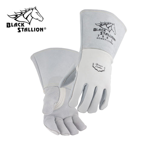 Revco 750 Pearl White Elkskin Stick Glove w/ Nomex® Lined Back (1 Pair)
