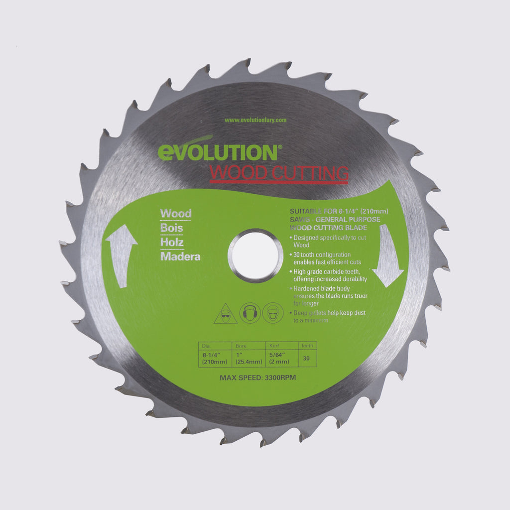 "Evolution 8-1/4BLADEWD 8 1/4"" Saw Blade"