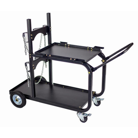 Metal Man UWC4 Single/Dual Bottle Heavy Duty Welding Cart w/ Handle