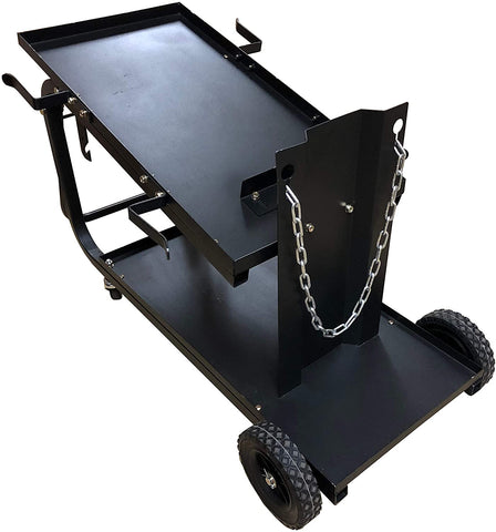 Metal Man UWC2XL Universal Welding Cart w/ Fold Down Handle