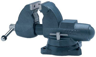 Wilton 10200 Combination Pipe/Bench Vises, 3 1/2 in Jaw, 4 1/2 in Throat, Swivel Base 1 EA