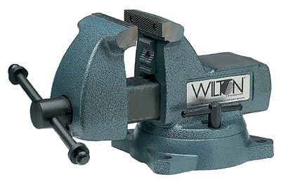 Wilton 21300 Machinists' Vises, 4 in Jaw, 3 7/16 in Throat, Swivel Base 1 EA
