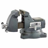 Wilton 21400 Machinists' Vises, 5 in Jaw, 3 3/4 in Throat, Swivel Base 1 EA