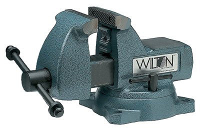 Wilton 21500 Machinists' Vises, 6 in Jaw, 4 1/8 in Throat, Swivel Base 1 EA