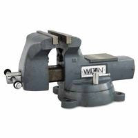 Wilton 21800 Machinists' Vises, 8 in Jaw, 4 3/4 in Throat, Swivel Base 1 EA