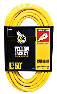 Woods Wire 2884 Yellow Jacket Power Cord, 50 ft