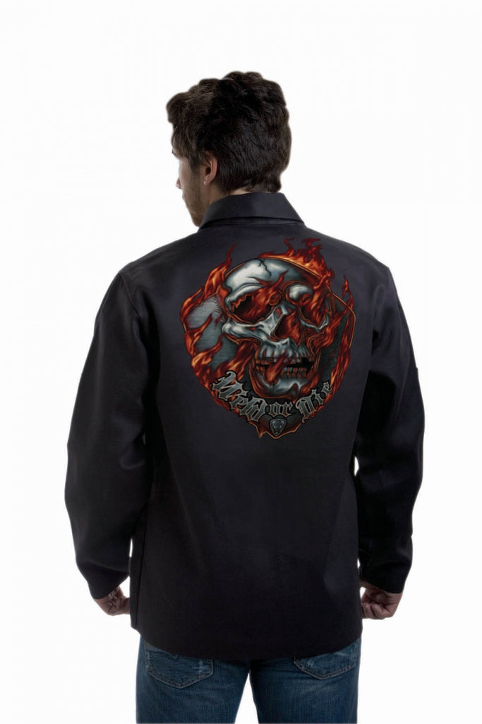 "Tillman 9062 30"" Black Oynx FR Jacket with ""Weld or Die"" Graphic (1 Jacket)"