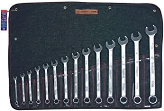 Wright Tool 714 14 Pc. Combination Wrench Sets, 12 Points, Inch, Chrome Plated 1 SET
