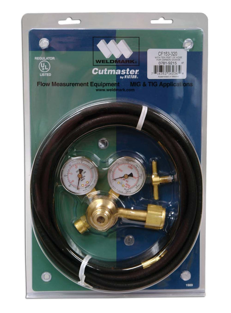 Weldmark 0781-9215 Co2 CF153-320 Flowguage Regulator W/ Hose
