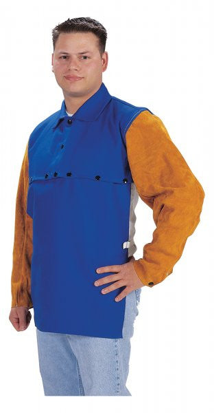 TILLMAN 9221 BLUE CAPE W/LEATHER SLEEVES