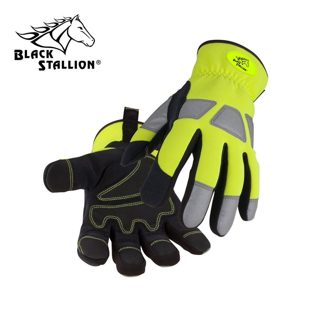 Revco 98HV Spandex/Synthetic Leather Reinforced Hi-Vis Mechanic