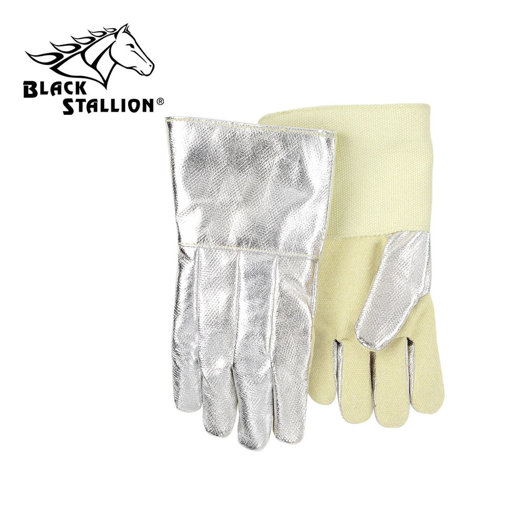 "Revco AHS714DK 14"", 19 oz. Aluminized Carbon/Kevlar Palm Thermal Protective Gloves (1 Pair)"