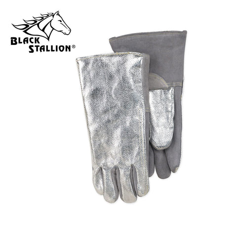 "Revco AHS714L 14"", 19 oz. Aluminized Carbon/Kevlar Leather Palm Thermal Protective Gloves (1 Pair)"