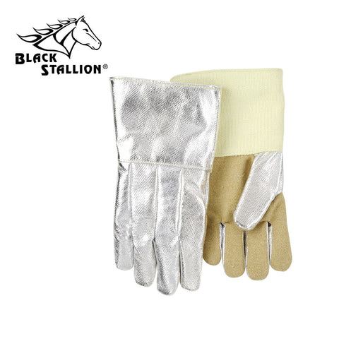 "Revco AHS714P 14"", 19 oz. Aluminized Carbon/Kevlar w/ PBI® Palm Thermal Protective Gloves (1 Pair)"