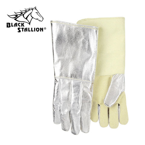 "Revco AHS718DK 18"", 19 oz. Aluminized Carbon/Kevlar Palm Thermal Protective Gloves (1 Pair)"