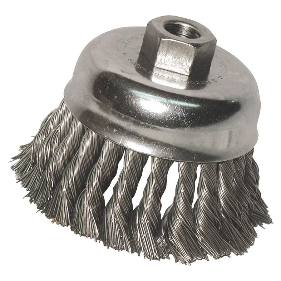 Anchor 3KC58S Stainless Cup Brush Side View