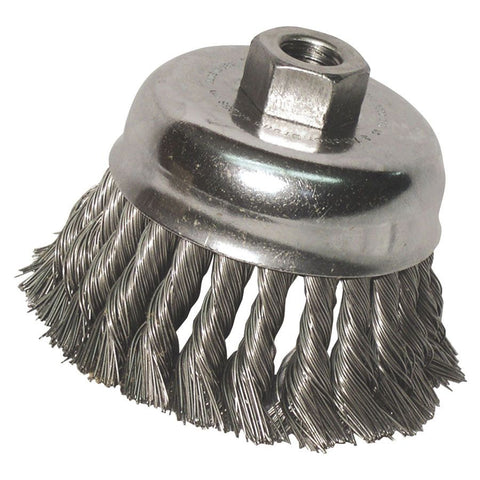 "Anchor Brand 2-3/4"" Knot Wire Cup Brush Stainless 5/8""-11 Thread"