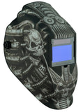 Metal Man ATEC8735SGC Techno Skull BIG Window Variable Shade Auto Darkening Welding Helmet