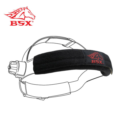 Revco BC5SB-BK BSX BLACK - RED LOGO BUMPERS HELMET SWEATBANDS (2-PACK)