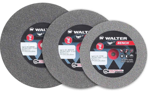 "Walter 12E325 6"" x 3/4"" x 1"" Medium 46 Grit Bench Grinding Wheel (1 Wheel)"