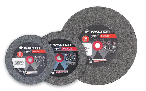 "Walter 12E345 6"" x 1"" x 1"" Medium 46 Grit Bench Grinding Wheel (1 Wheel)"
